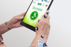 Sturzpass-App im Labor