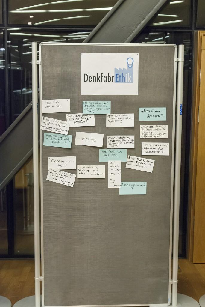 Metaplan Wand zum Thema Digitaler Wandel allgemein.