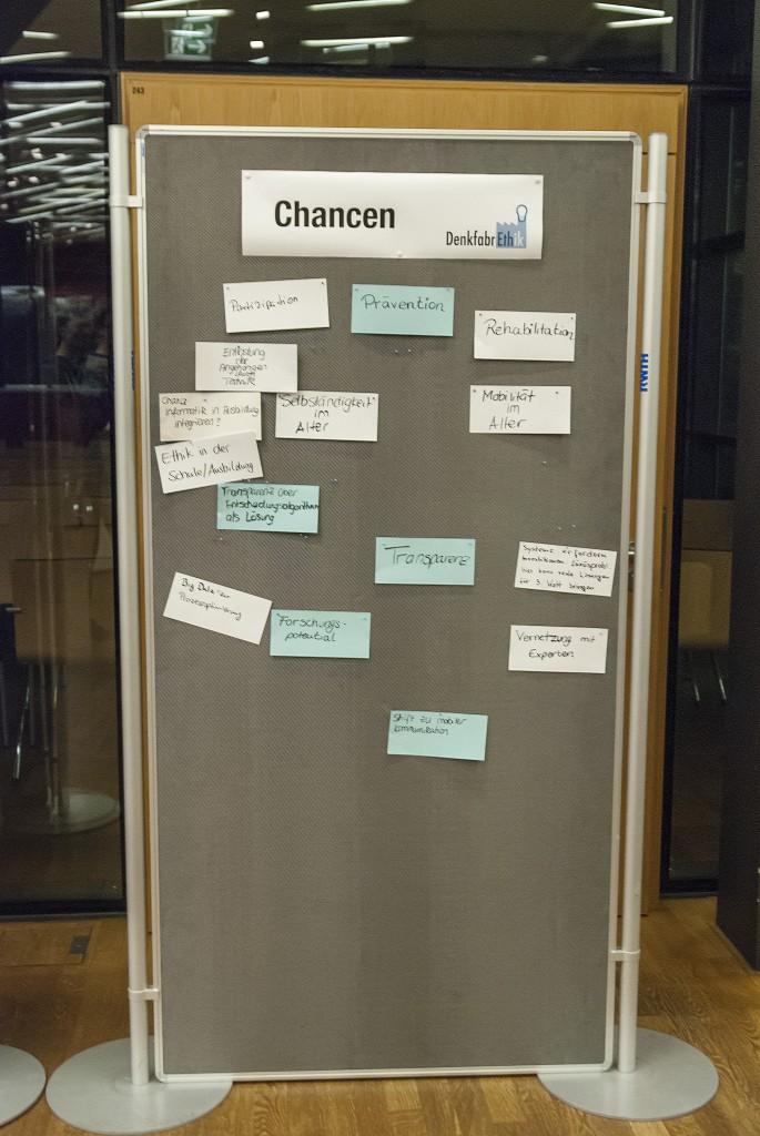 Metaplan Wand zum Thema Chancen
